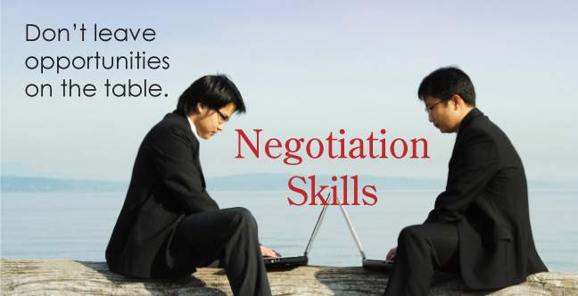Commercial negotiation training